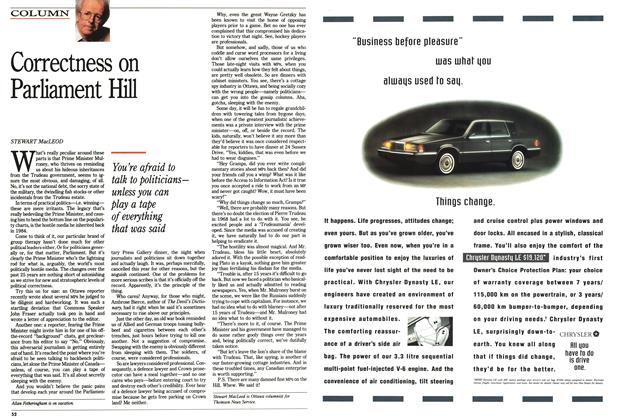 Article Preview: Correctness on Parliament Hill, June 1992 | Maclean's