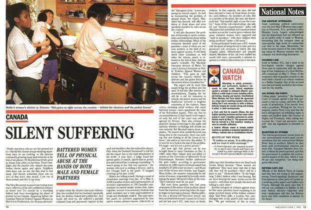 Article Preview: SILENT SUFFERING, June 1992 | Maclean's
