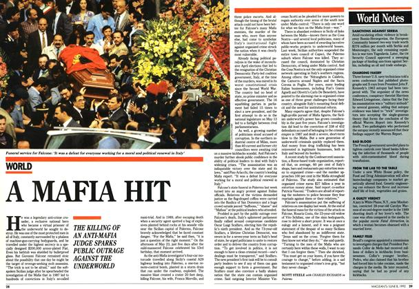 Article Preview: A MAFIA HIT, June 1992 | Maclean's