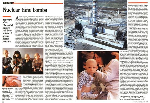 Article Preview: Nuclear time bombs, June 1992 | Maclean's