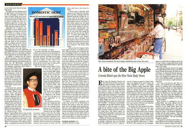 Article Preview: A bite of the Big Apple, June 1992 | Maclean's