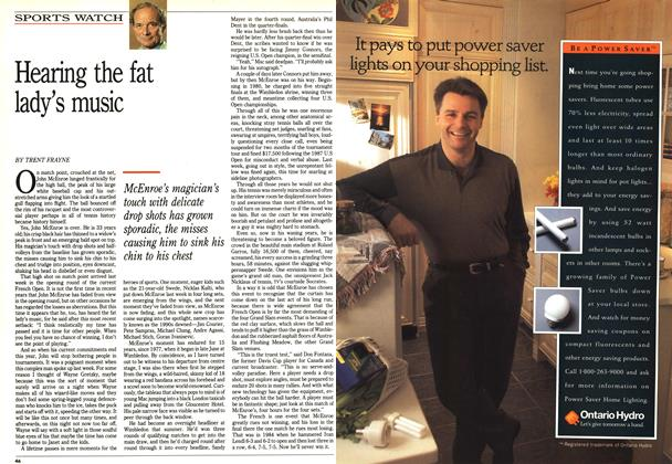 Article Preview: Hearing the fat lady's music, June 1992 | Maclean's