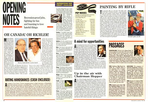 Article Preview: OPENING NOTES, June 1992 | Maclean's