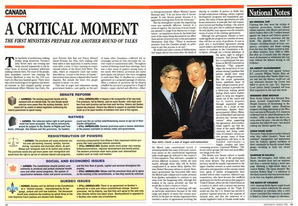 Article Preview: A CRITICAL MOMENT, June 1992 | Maclean's