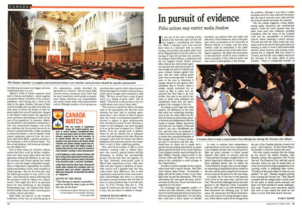 Article Preview: In pursuit of evidence, June 1992 | Maclean's
