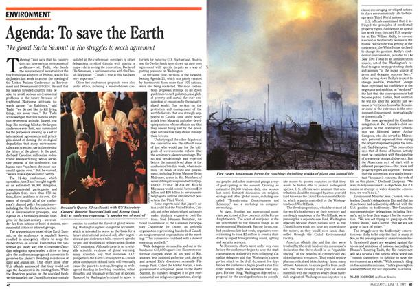 Article Preview: Agenda: To save the Earth, June 1992 | Maclean's