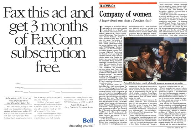 Article Preview: Company of women, June 1992 | Maclean's