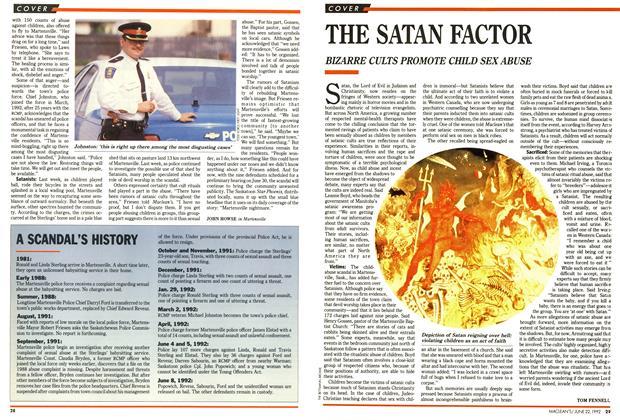 Article Preview: THE SATAN FACTOR, June 1992 | Maclean's