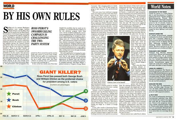 Article Preview: BY HIS OWN RULES, June 1992 | Maclean's