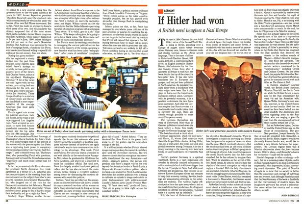 Article Preview: If Hitler had won, June 1992 | Maclean's