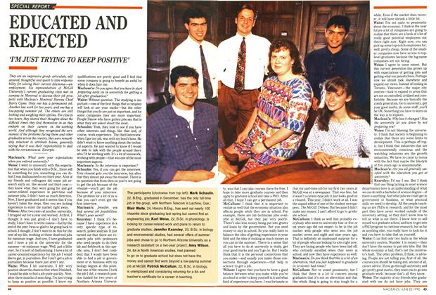 Article Preview: EDUCATED AND REJECTED, June 1992 | Maclean's