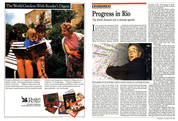 Article Preview: Progress in Rio, June 1992 | Maclean's