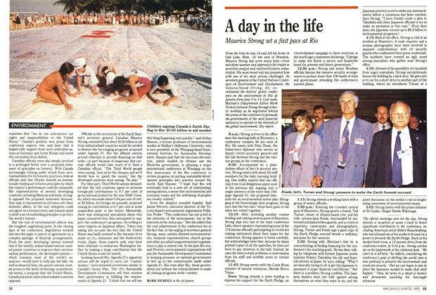 Article Preview: A day in the life, June 1992 | Maclean's