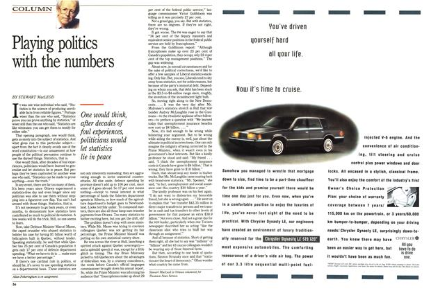 Article Preview: Playing politics with the numbers, June 1992 | Maclean's