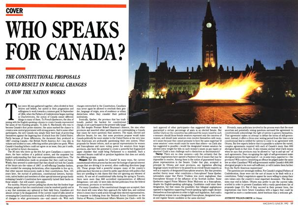Article Preview: WHO SPEAKS FOR CANADA?, June 1992 | Maclean's
