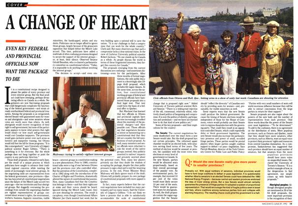 Article Preview: A CHANGE OF HEART, June 1992 | Maclean's
