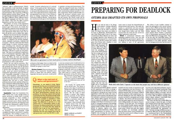 Article Preview: PREPARING FOR DEADLOCK, June 1992 | Maclean's
