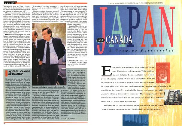 Article Preview: 'QUEBEC CANNOT BE BLAMED', June 1992 | Maclean's