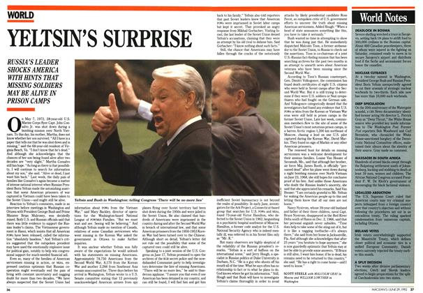 Article Preview: YELTSIN'S SURPRISE, June 1992 | Maclean's