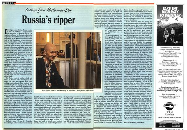 Article Preview: Russia's ripper, June 1992 | Maclean's