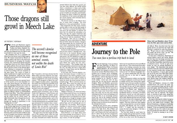 Article Preview: Those dragons still growl in Meech Lake, June 1992 | Maclean's