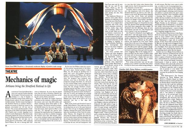 Article Preview: Mechanics of magic, June 1992 | Maclean's