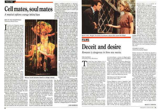Article Preview: Cell mates, soul mates, June 1992 | Maclean's