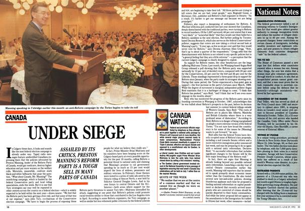 Article Preview: UNDER SIEGE, June 1992 | Maclean's