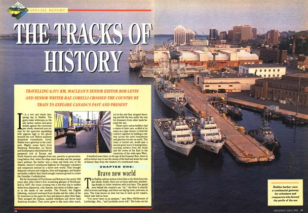 Article Preview: THE TRACKS OF HISTORY, July 1992 | Maclean's