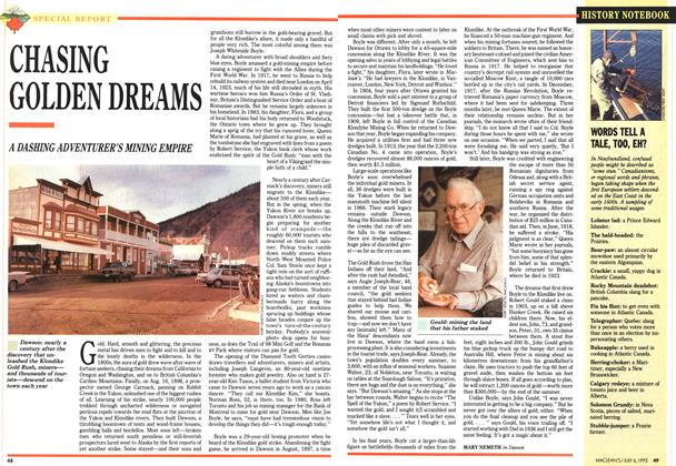 Article Preview: CHASING GOLDEN DREAMS, July 1992 | Maclean's
