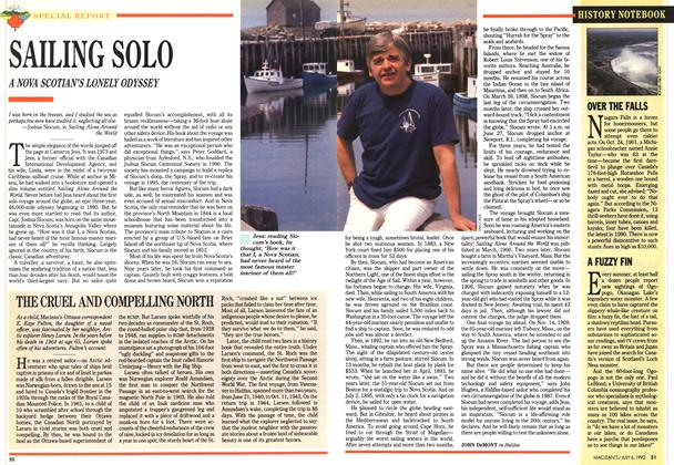 Article Preview: SAILING SOLO, July 1992 | Maclean's