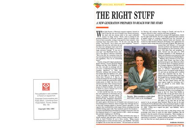 Article Preview: THE RIGHT STUFF, July 1992 | Maclean's