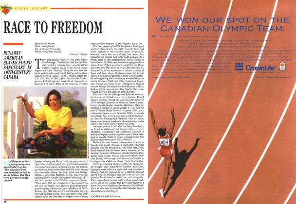 Article Preview: RACE TO FREEDOM, July 1992   Maclean's