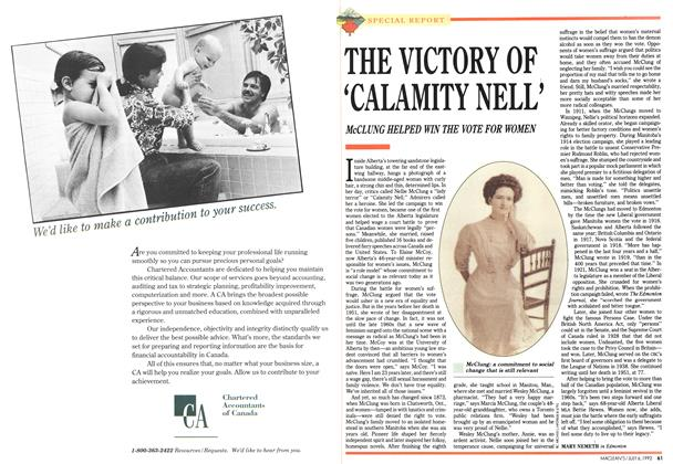 Article Preview: THE VICTORY OF 'CALAMITY NELL', July 1992 | Maclean's