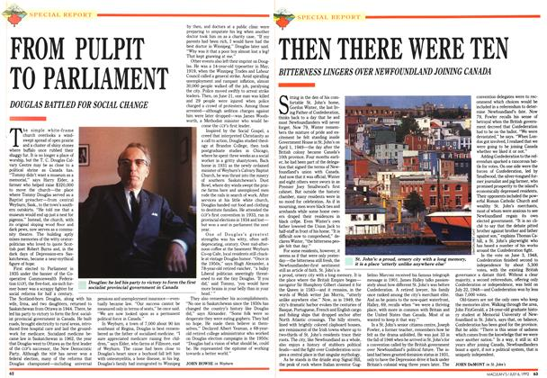 Article Preview: FROM PULPIT TO PARLIAMENT, July 1992 | Maclean's