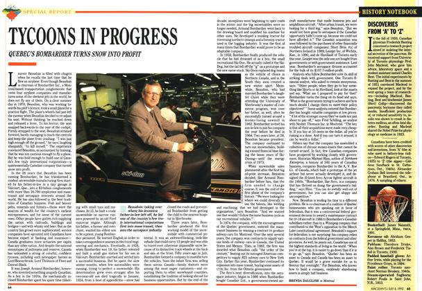 Article Preview: TYCOONS IN PROGRESS, July 1992 | Maclean's