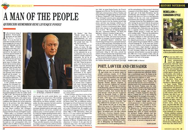 Article Preview: POET, LAWYER AND CRUSADER, July 1992 | Maclean's