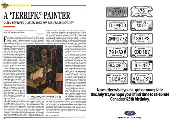 Article Preview: A 'TERRIFIC' PAINTER, July 1992 | Maclean's