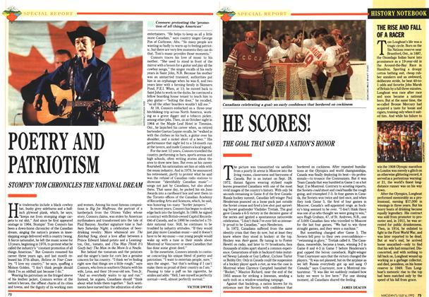 Article Preview: HE SCORES!, July 1992 | Maclean's