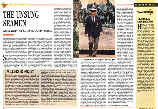 Article Preview: 'I WILL NEVER FORGET', July 1992 | Maclean's