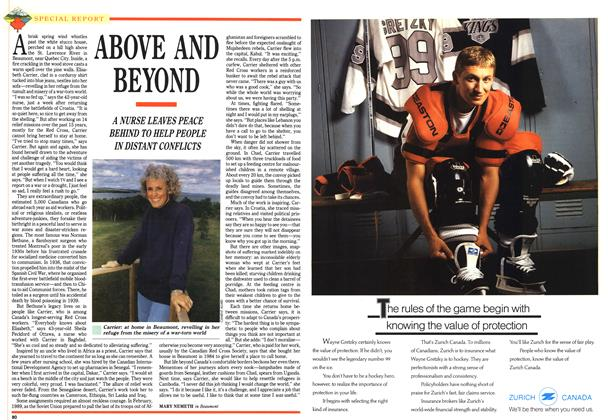 Article Preview: ABOVE AND BEYOND, July 1992 | Maclean's