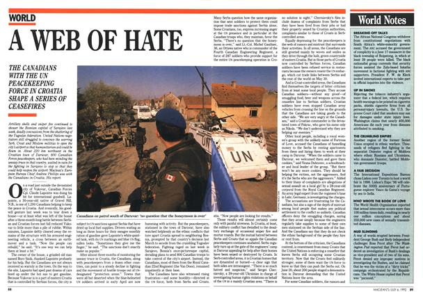 Article Preview: A WEB OF HATE, July 1992 | Maclean's