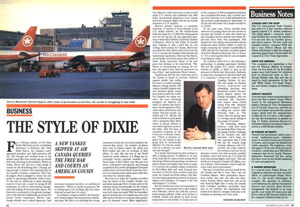 Article Preview: THE STYLE OF DIXIE, July 1992 | Maclean's