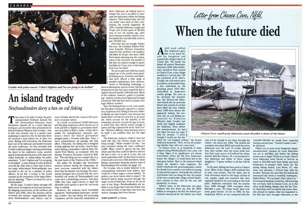 Article Preview: When the future died, July 1992 | Maclean's