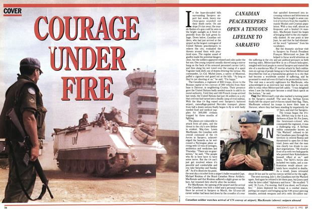 Article Preview: COURAGE UNDER FIRE, July 1992 | Maclean's