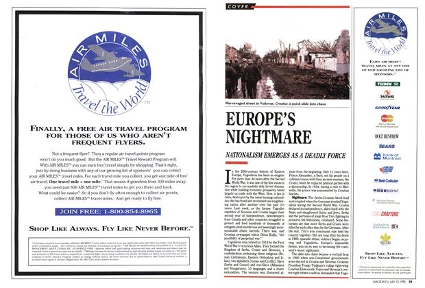 Article Preview: EUROPE'S NIGHTMARE, July 1992 | Maclean's