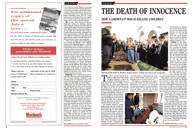 Article Preview: THE DEATH OF INNOCENCE, July 1992 | Maclean's