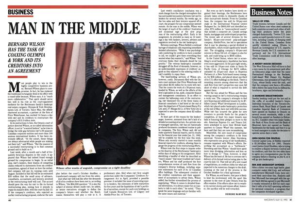 Article Preview: MAN IN THE MIDDLE, July 1992 | Maclean's