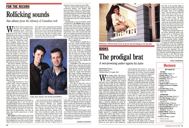 Article Preview: The prodigal brat, July 1992 | Maclean's