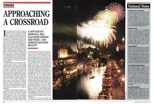 Article Preview: APPROACHING A CROSSROAD, July 1992 | Maclean's